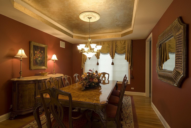 Culori ideale living amenajari interioare poze si idei design - Dining room design ideas with brave tone decoration ...