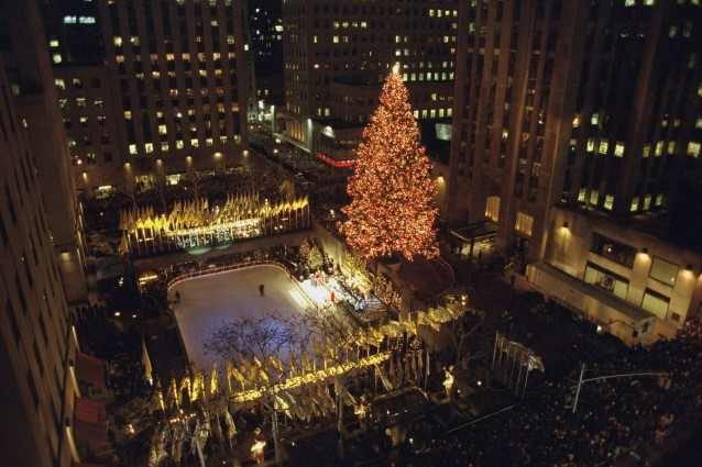 Annual Christmas tree lighting ceremony at Rockefeller Cente