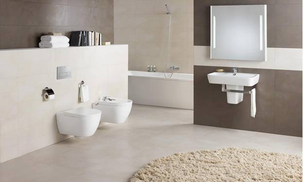 Completarea ambientului baii cu un vas wc modern