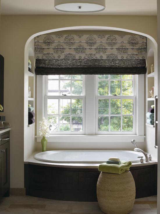Perdele si draperii pentru orice incapere amenajari Bathroom window cover ideas